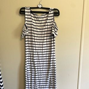 Garage dress size small black and white striped